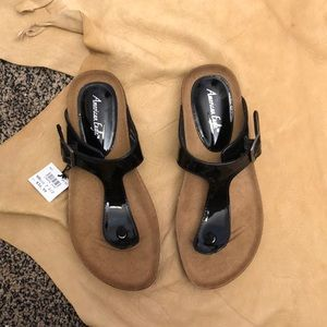 NWT Black American Eagle Cork Sandals